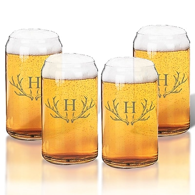 Union Rustic Maximo 16 oz. Beer Glass (Set of 4); L