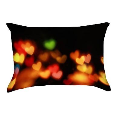Latitude Run Josi Heart Lights Indoor/Outdoor Lumbar Pillow