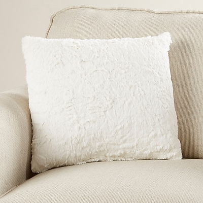 Harriet Bee Rutledge Faux Fur Throw Pillow