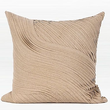 Rosdorf Park Mattox Textured Abstract Curve Line Throw Pillow; Down/Feather