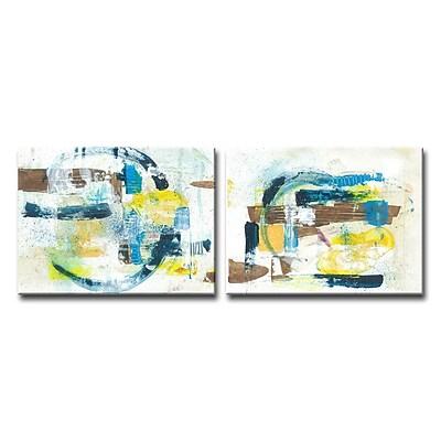 Corrigan Studio 'Sun and Shade' Acrylic Painting Print Multi-Piece Image on Canvas; 16'' H x 40'' W