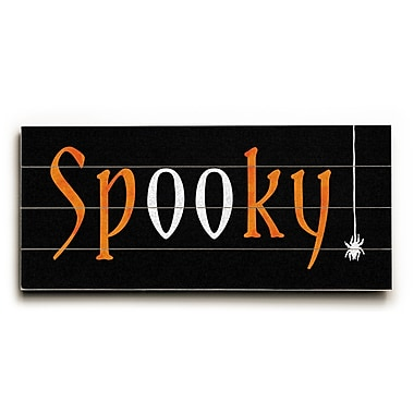 The Holiday Aisle 'Spooky' Textual Art on Wood