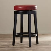 Orren Ellis Bohnsack 26'' Swivel Bar Stool; Red
