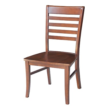 Loon Peak Bezons Solid Wood Chair Chair (Set of 2); Espresso