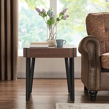 Union Rustic Vincente End Table; Dark Brown Oak