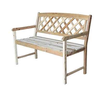 Charlton Home Jeffcoat Wood Garden Bench