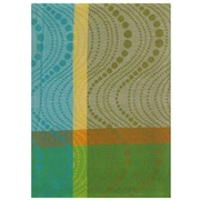 Latitude Run Wave Rectangle 100pct Hand Woven Cotton Dishcloth (Set of 6)