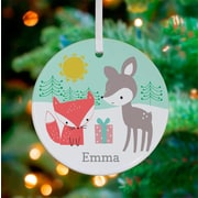 Oopsy Daisy Personalized Deer and Fox Present Hanging Ornament