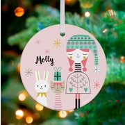 Oopsy Daisy Personalized All I Want for Christmas Girl Hanging Ornament