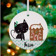 Oopsy Daisy Personalized Gingerbread Kitty Hanging Ornament