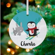 Oopsy Daisy Personalized Penguin on The Slopes Hanging Ornament