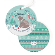 Oopsy Daisy Personalized Winter Bear Hanging Ornament