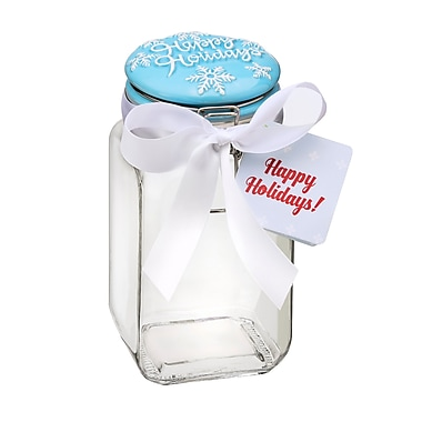 The Holiday Aisle Happy Holidays Piazza Hermetic Preserving 1.43 qt. Kitchen Canister