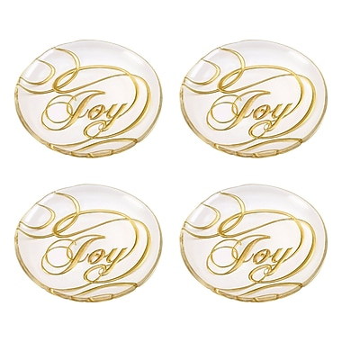 The Holiday Aisle Joy Decorative Plate (Set of 4)