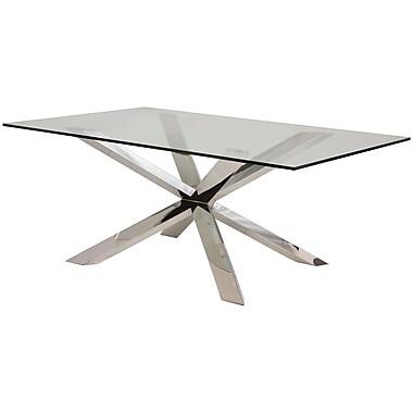 Orren Ellis Boler Glass Top Dining Table