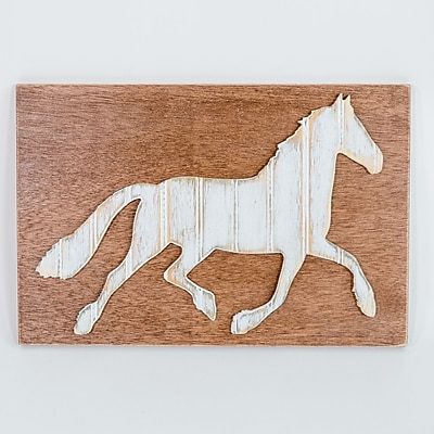Harriet Bee Horse Wood Wall D cor; 24'' H x 18'' W
