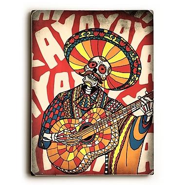 East Urban Home 'Mariachi' Graphic Art Print on Wood; 24'' H x 18'' W