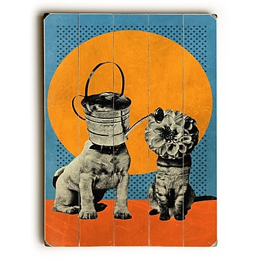 East Urban Home 'Watering Can' Graphic Art Print on Wood; 24'' H x 18'' W