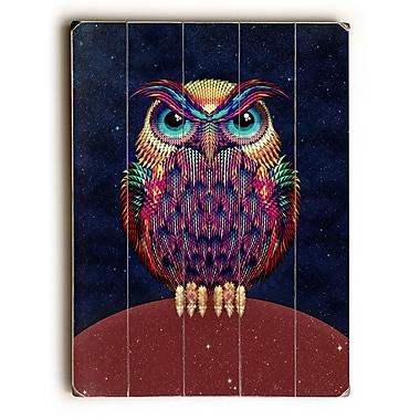 East Urban Home 'Owl' Graphic Art Print on Wood; 34'' H x 25'' W