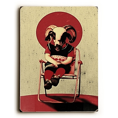 East Urban Home 'Sit Tight' Graphic Art Print on Wood; 12'' H x 9'' W