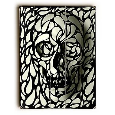 East Urban Home 'Skull' Graphic Art Print on Wood; 12'' H x 9'' W
