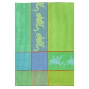 Loon Peak Patterned Frog 100pct Cotton Dishcloth (Set of 6); Green