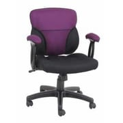 Ebern Designs Eldred Slip Cover Task Desk Chair; Black/Purple