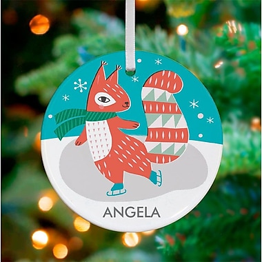 Oopsy Daisy Personalized Squirrel on Skates Hanging Ornament