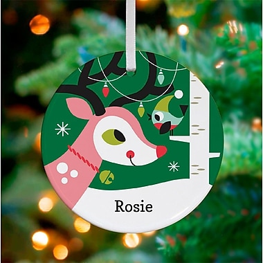 Oopsy Daisy Personalized Holiday Forest Deer Hanging Ornament