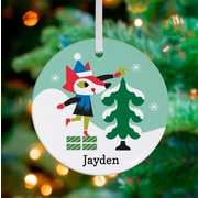 Oopsy Daisy Personalized Holiday Forest Fox Hanging Ornament
