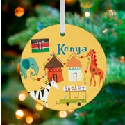Oopsy Daisy Personalized Wander the World Kenya Hanging Ornament