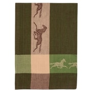 Loon Peak Patterned Horse 100pct Cotton Dishcloth (Set of 6); Green