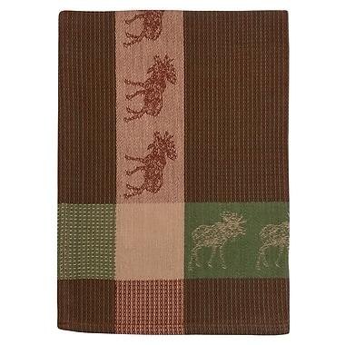 Loon Peak Moose 100pct Hand Woven Cotton Dishcloth (Set of 6); Brown