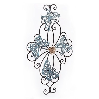 Ophelia & Co. Flower and Butterfly Urban Design Metal Wall Decor