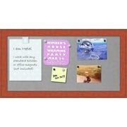 Zoomie Kids Framed Metal Magnetic Bulletin Board