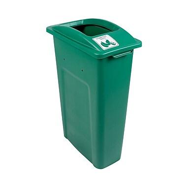 Busch Systems Waste Watcher Compost Single 23 Gallon Recycling Bin; Green
