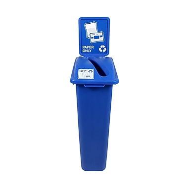 Busch Systems Waste Watcher Paper Slot Single 23 Gallon Recycling Bin; Blue