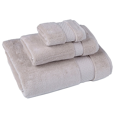 Darby Home Co Bell 3 Piece Cotton Towel Set; Beige