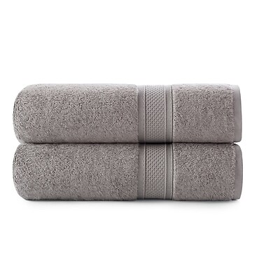 Red Barrel Studio Luxury Rayon Bath Towel Set (Set of 2); Seafoam Green
