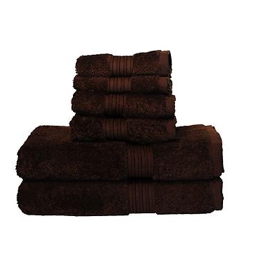 Red Barrel Studio Egyptian Majestic 6 Piece Towel Set; Brown Sugar