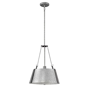 Brayden Studio Dobbs Ferry 1-Light Mini Pendant; Galvanized