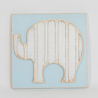 Harriet Bee Elephant Solid Wood Wall D cor; 24'' H x 24'' W