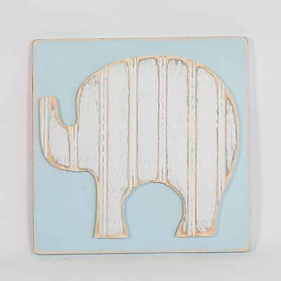 Harriet Bee Elephant Solid Wood Wall D cor; 12'' H x 12'' W