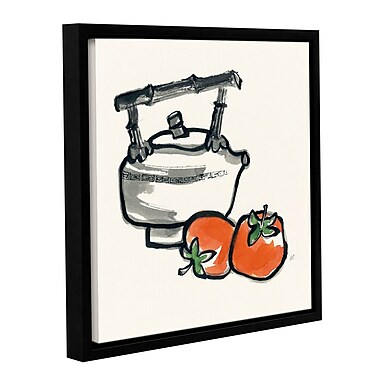 Ebern Designs 'Tea And Persimmons' Framed Painting Print; 36'' H x 36'' W x 2'' D