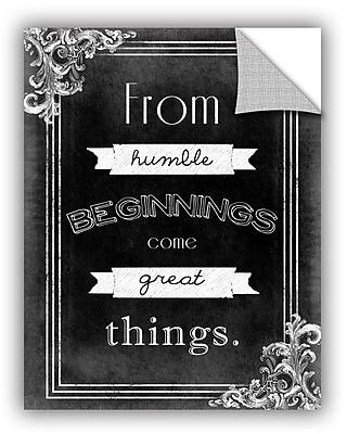 Ebern Designs 'Humble Beginnings' Textual Art; 32'' H x 24'' W x 0.1'' D