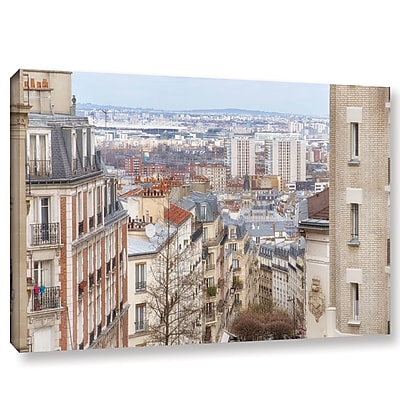 Ebern Designs 'View Over Paris From the Butte Montmartre' Photographic Print on Wrapped Canvas
