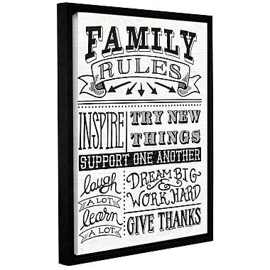 Gracie Oaks 'Family Rules II' Framed Textual Art on Canvas; 10'' H x 8'' W x 2'' D