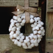 Gracie Oaks Faux Cotton 14'' Wreath