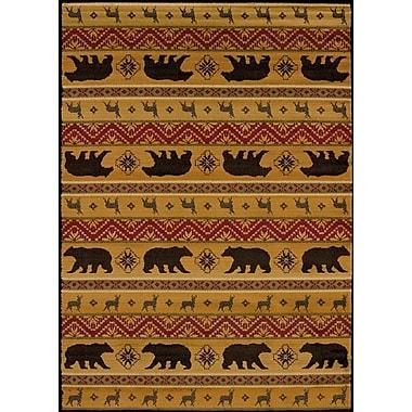 Loon Peak Sayre Bear Spice Area Rug; 1' 10'' x 3'