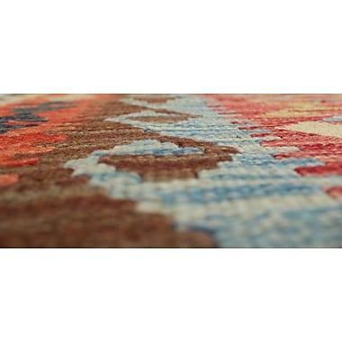 Loon Peak Vallejo Kilim Tuuba Hand-Woven Wool Red Area Rug